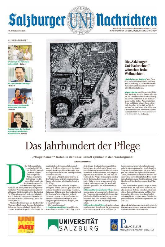 Bucheinband von 'Salzburger UNI Nachrichten, Band 4/2019'