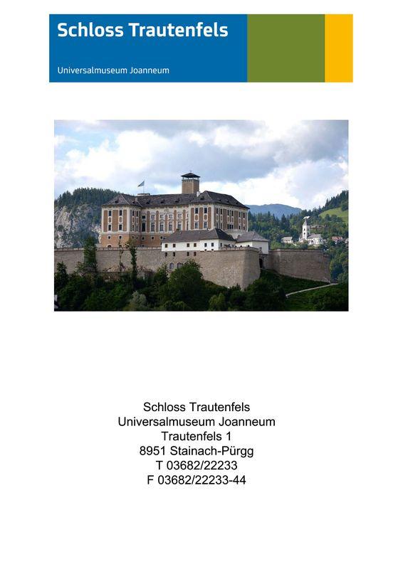 Bucheinband von 'Schloss Trautenfels - Eine Abteilung des Universalmuseums Joanneum'