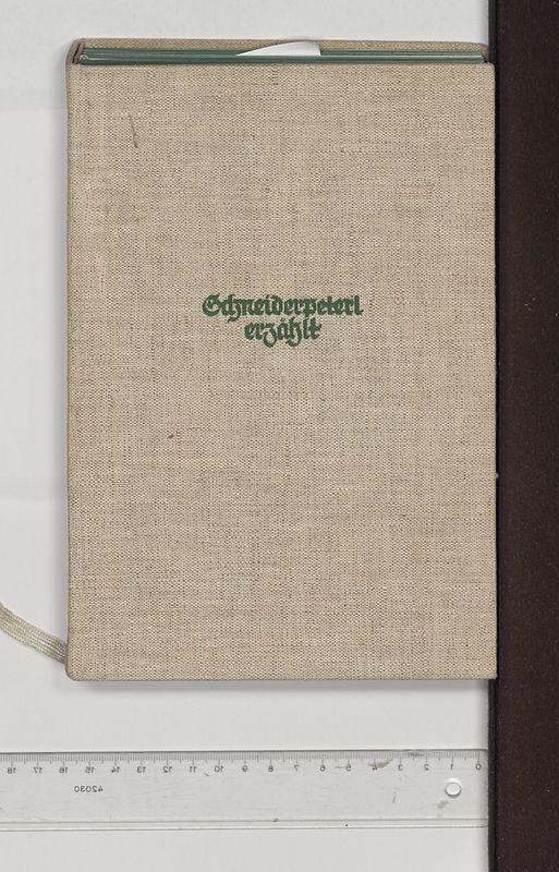 Bucheinband von 'Schneiderpeterl erzählt - aus P. K. Roseggers unveröffentlichten Jugendschriften'