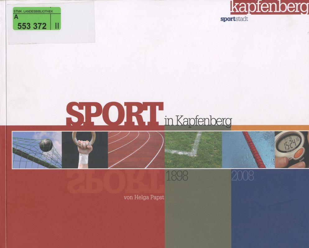 Bucheinband von 'Sport in Kapfenberg'
