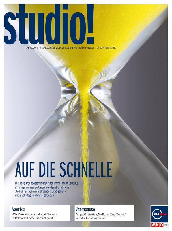 Bucheinband von 'studio! - Das Magazin für Management & Kommunikation der FHWien der WKW, Band 03| September 2019'