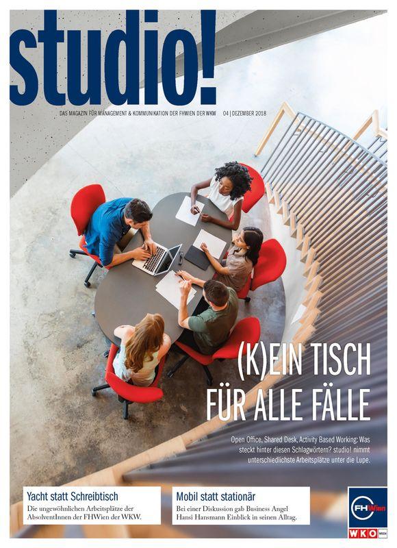 Cover of the book 'studio! - Das Magazin für Management & Kommunikation der FHWien der WKW, Volume 04| Dezember 2018'
