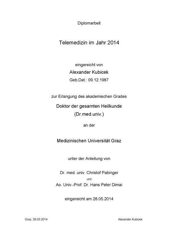Cover of the book 'Telemedizin im Jahr 2014'