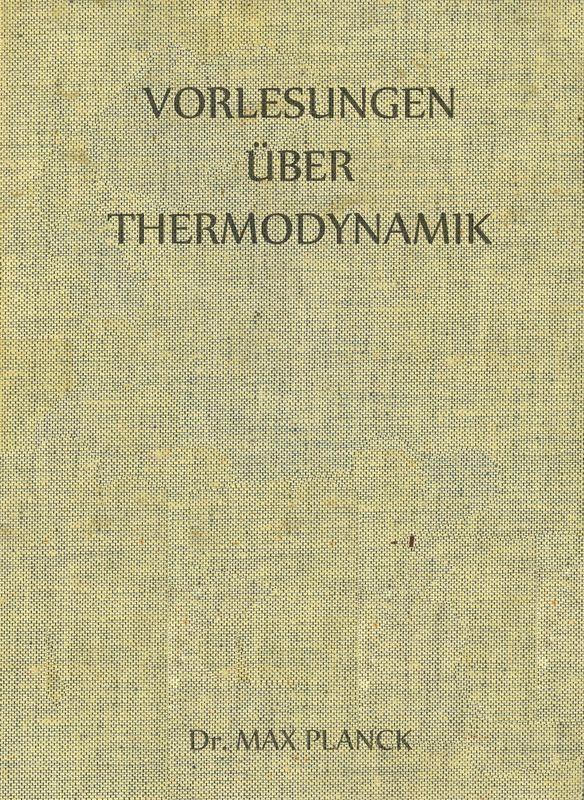 Bucheinband von 'Vorlesungen über Thermodynamik'