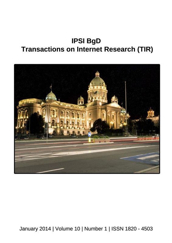 Bucheinband von 'Transactions on Internet Research (TIR), Band 10/1'