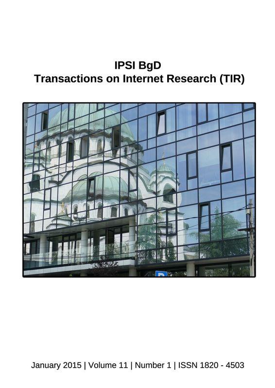 Bucheinband von 'Transactions on Internet Research (TIR), Band 11/1'