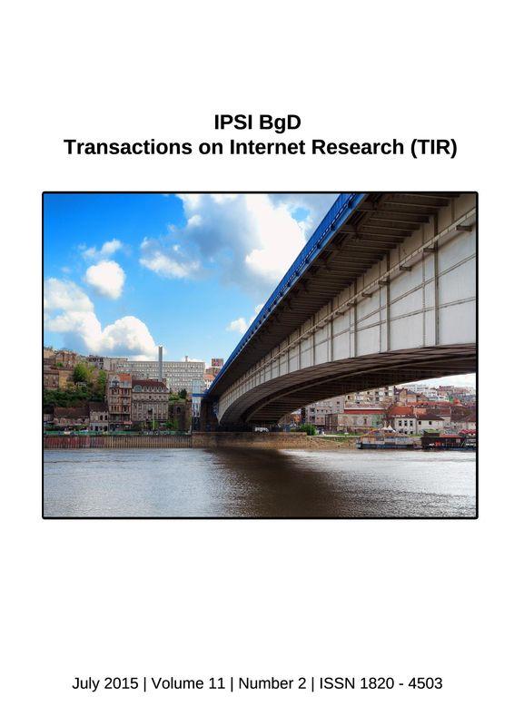 Bucheinband von 'Transactions on Internet Research (TIR), Band 11/2'