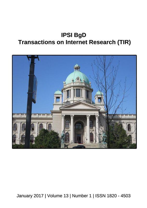 Bucheinband von 'Transactions on Internet Research (TIR), Band 13/1'