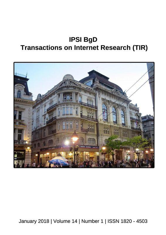 Bucheinband von 'Transactions on Internet Research (TIR), Band 14/1'