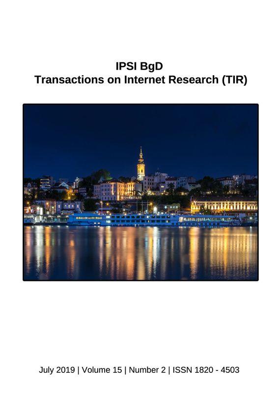 Bucheinband von 'Transactions on Internet Research (TIR), Band 15/2'