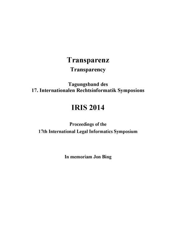 Bucheinband von 'IRIS 2014 - Transparenz - Transparency'