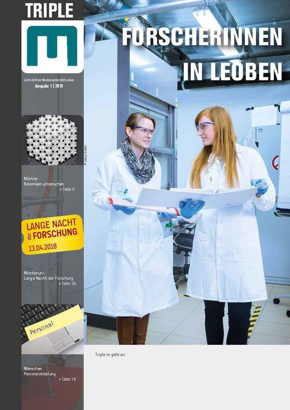 Bucheinband von 'Triple M - Zeitschrift der Montanuniversität Leoben, Band 1|2018'