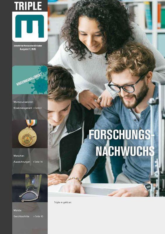 Bucheinband von 'Triple M - Zeitschrift der Montanuniversität Leoben, Band 2|2020'