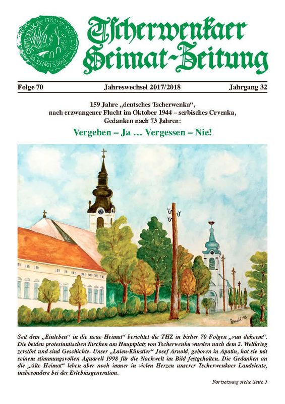 Bucheinband von 'Tscherwenkaer Heimat-Zeitung - Vergeben – Ja … Vergessen – Nie!, Band 70'