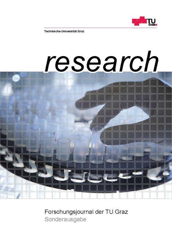 Bucheinband von 'TU Graz Research - Forschungsjournal der TU Graz'