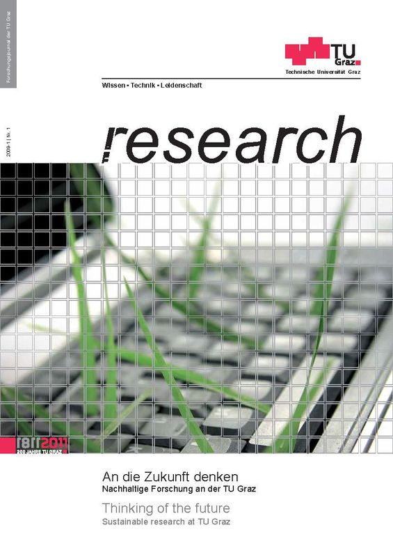 Bucheinband von 'TU Graz Research 01 2009, Band 1'