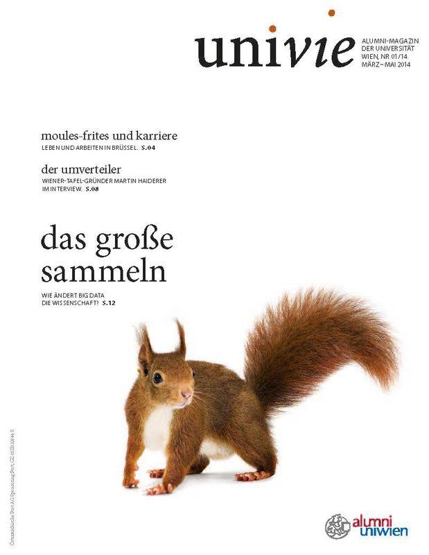 Bucheinband von 'univie - Alumni-Magazin der Universität Wien, Band 01/14'