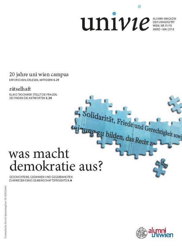 Bucheinband von univie - Alumni-Magazin der Universität Wien, Band 01/18
