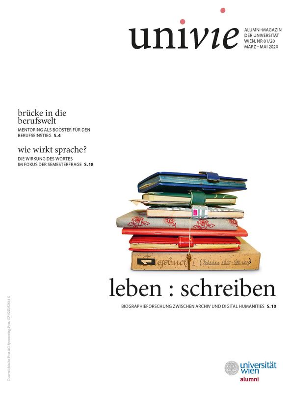 Bucheinband von 'univie - Alumni-Magazin der Universität Wien, Band 01/20'