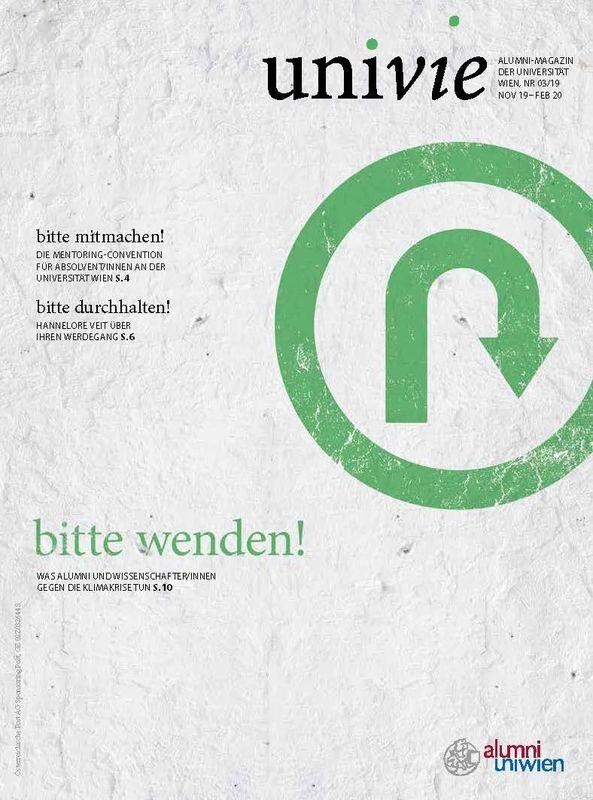Bucheinband von 'univie - Alumni-Magazin der Universität Wien, Band 03/19'