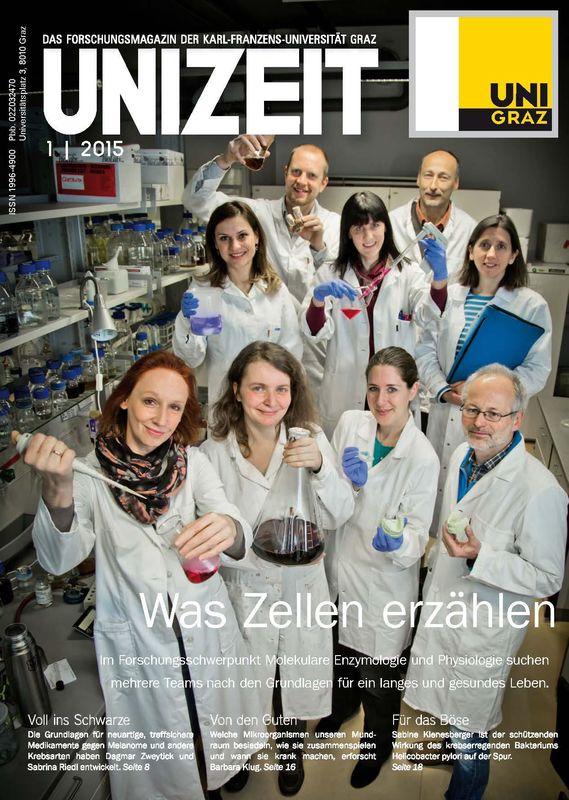 Cover of the book 'UNIZEIT  - Das Forschungsmagazin der Karl-Franzens-Universität Graz, Volume 1 2015'
