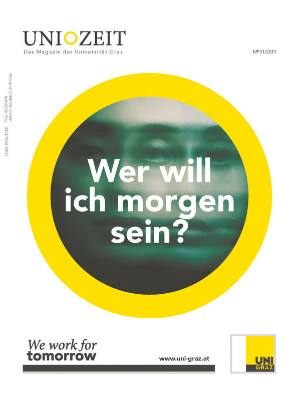 Cover of the book 'UNIZEIT  - Das Forschungsmagazin der Karl-Franzens-Universität Graz, Volume 1|2019'