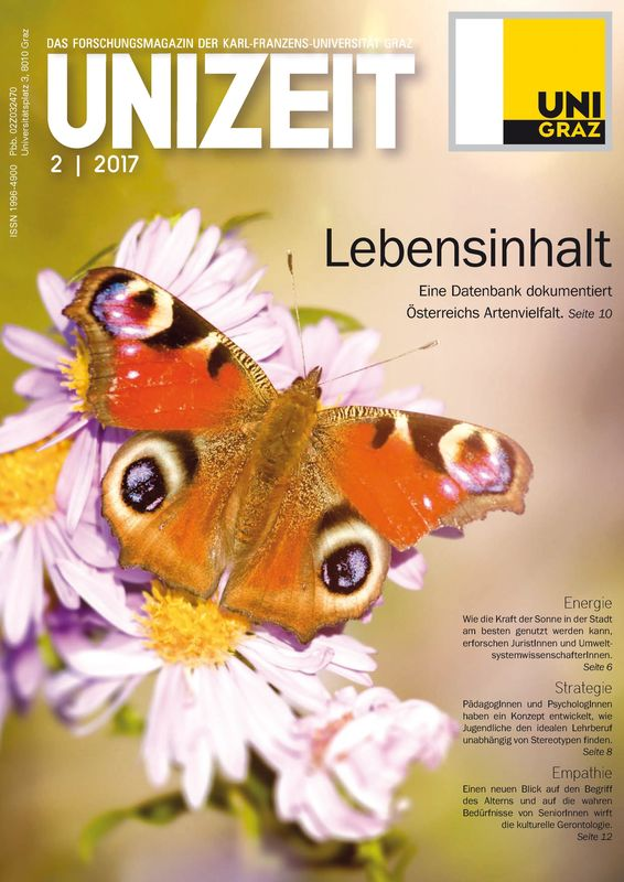 Cover of the book 'UNIZEIT  - Das Forschungsmagazin der Karl-Franzens-Universität Graz, Volume 2|2017'