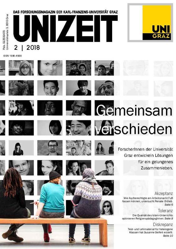 Bucheinband von 'UNIZEIT  - Das Forschungsmagazin der Karl-Franzens-Universität Graz, Band 2|2018'