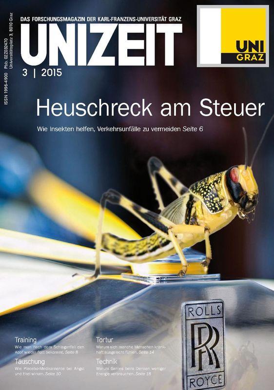 Cover of the book 'UNIZEIT  - Das Forschungsmagazin der Karl-Franzens-Universität Graz, Volume 3 2015'