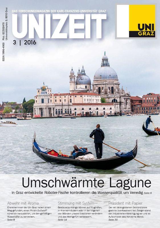 Cover of the book 'UNIZEIT  - Das Forschungsmagazin der Karl-Franzens-Universität Graz, Volume 3 2016'