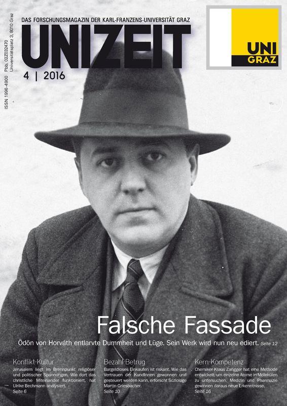 Cover of the book 'UNIZEIT  - Das Forschungsmagazin der Karl-Franzens-Universität Graz, Volume 4 2016'