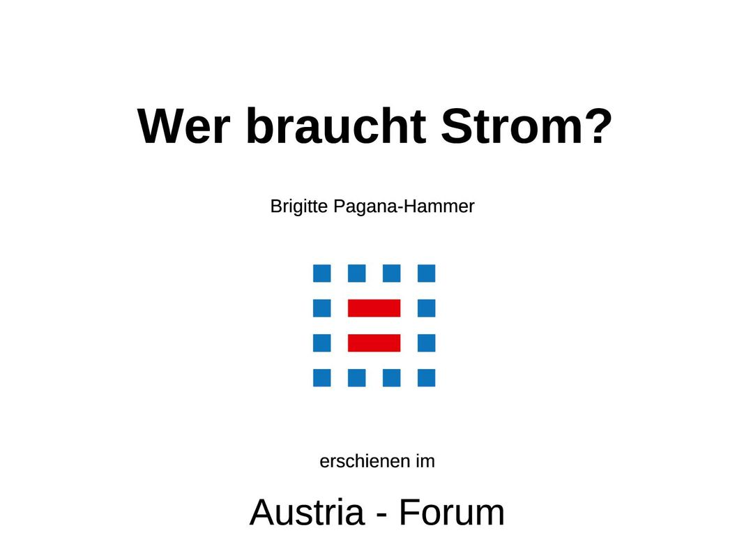 Cover of the book 'Wer braucht Strom?'