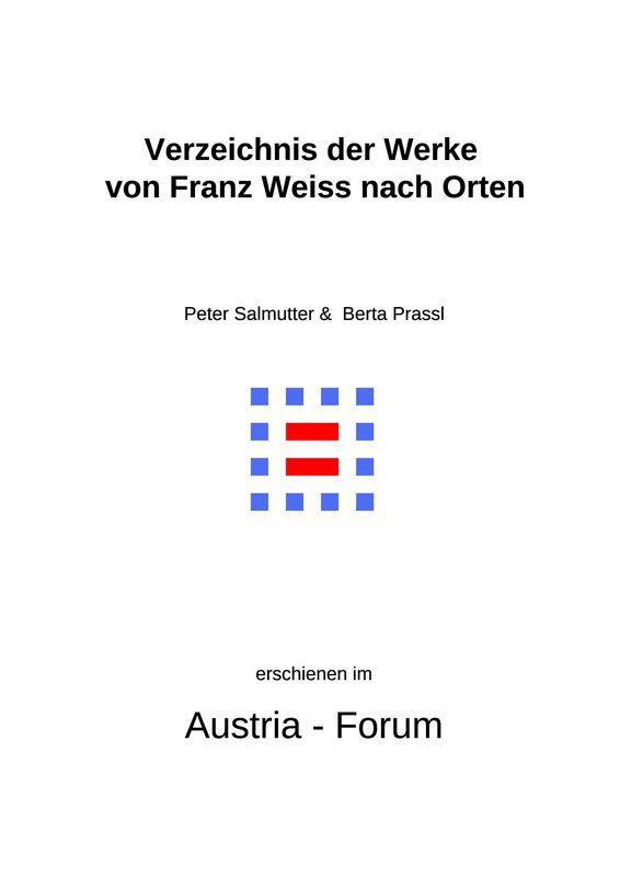Bucheinband von 'Verzeichnis der Werke von Franz Weiss nach Orten'
