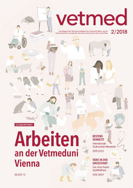 Bucheinband von vetmed - Das Magazin der Veterinärmedizinischen Universität Wien und der Gesellschaft der Freunde der Veterinärmedizinischen Universität Wien, Band 2/2018
