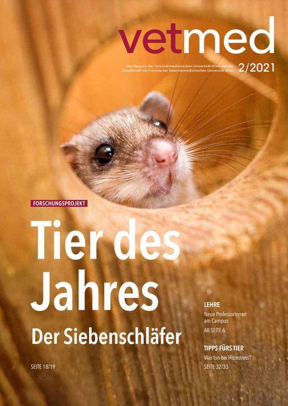 Bucheinband von 'vetmed - Das Magazin der Veterinärmedizinischen Universität Wien und der Gesellschaft der Freunde der Veterinärmedizinischen Universität Wien, Band 2/2021'