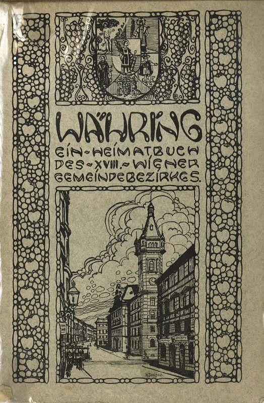 Bucheinband von 'Währing - Ein Heimatbuch des XVIII. Wiener Gemeindebezirk'