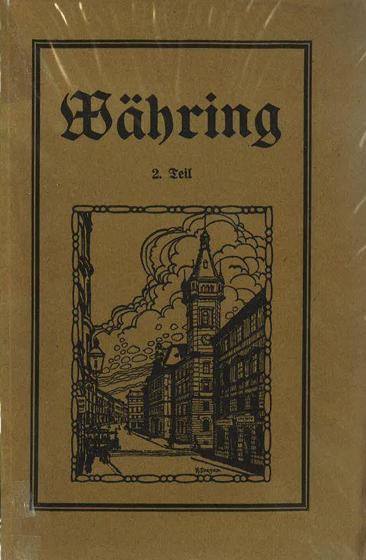 Bucheinband von 'Währing - Ein Heimatbuch des 18. Wiener Gemeindebezirk'