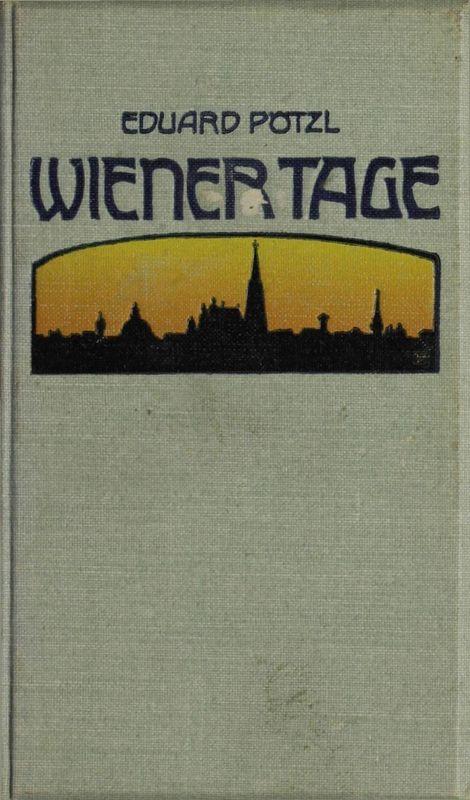 Bucheinband von 'Wiener Tage'