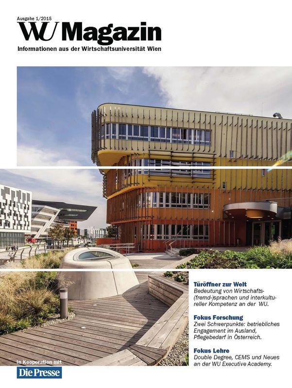 Bucheinband von 'WU Magazin - Information aus der Wirtschaftsuniversität Wien, Band 1/2015'