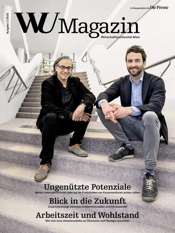 Bucheinband von 'WU Magazin - Information aus der Wirtschaftsuniversität Wien, Band 1/2016'