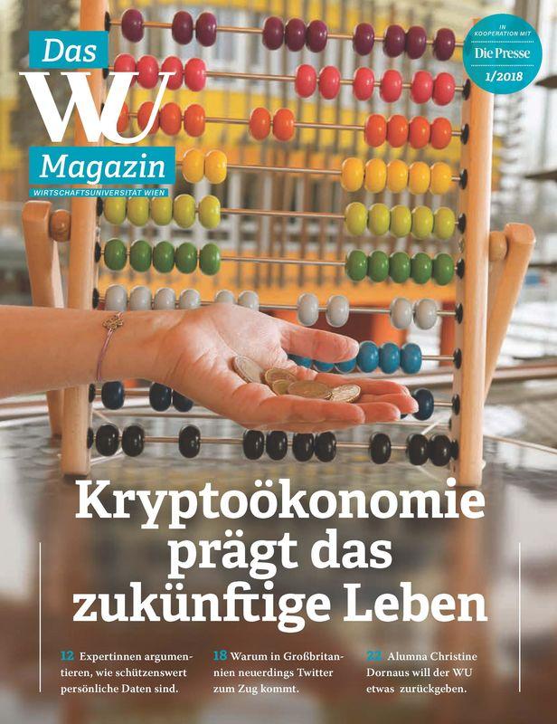Bucheinband von 'WU Magazin - Information aus der Wirtschaftsuniversität Wien, Band 1/2018'