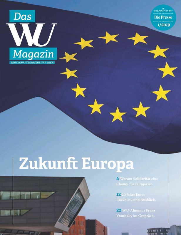 Cover of the book 'WU Magazin - Information aus der Wirtschaftsuniversität Wien, Volume 1/2019'