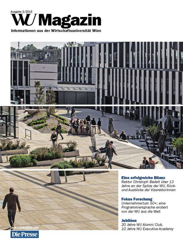 Bucheinband von 'WU Magazin - Information aus der Wirtschaftsuniversität Wien, Band 2/2015'