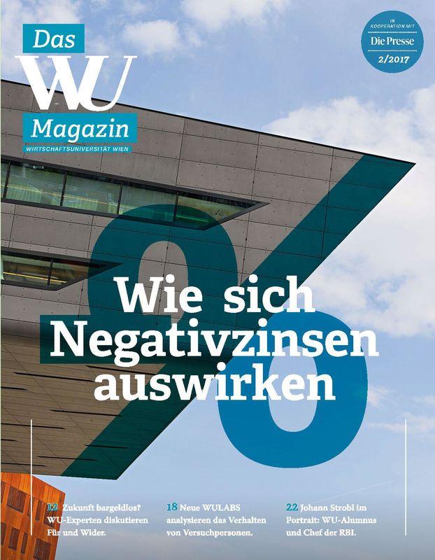 Bucheinband von 'WU Magazin - Information aus der Wirtschaftsuniversität Wien, Band 2/2017'