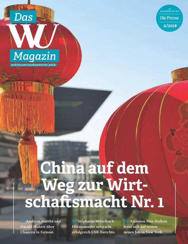 Bucheinband von WU Magazin - Information aus der Wirtschaftsuniversität Wien, Band 2/2018