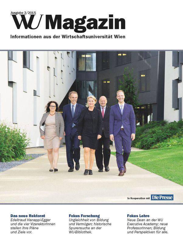 Bucheinband von 'WU Magazin - Information aus der Wirtschaftsuniversität Wien, Band 3/2015'