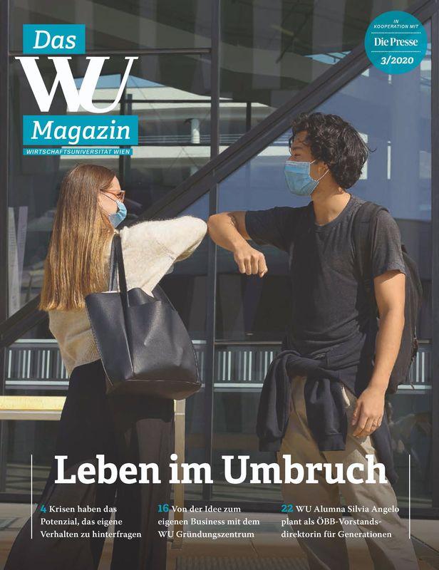 Bucheinband von 'WU Magazin - Information aus der Wirtschaftsuniversität Wien, Band 3/2020'