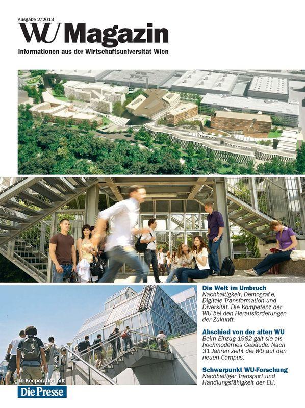 Bucheinband von 'WU Magazin - Information aus der Wirtschaftsuniversität Wien, Band 2/2013'