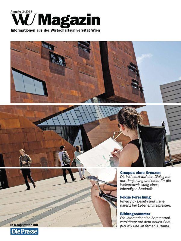 Bucheinband von 'WU Magazin - Information aus der Wirtschaftsuniversität Wien, Band 2/2014'