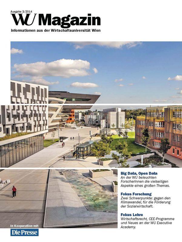 Bucheinband von 'WU Magazin - Information aus der Wirtschaftsuniversität Wien, Band 3/2014'
